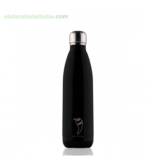 BOTELLA INOX NEGRO TOTAL MATE 500 ML. CHILLY