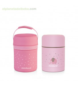 SILKY FOOD THERMOS ROSE MINILAND