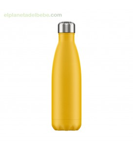 BOTELLA INOX AMARILLA MATE 500 ML CHILLY