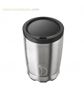 VASO INOX ACERO CON TAPA 340 ML CHILLY