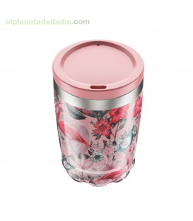 VASO INOX FLAMINGO CON TAPA 340 ML CHILLY