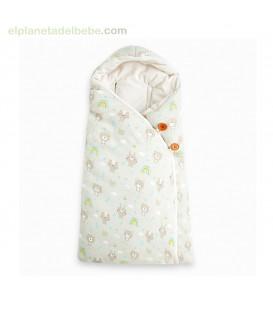 SACO ARRULLO CAPUCHA NATURAL BABY BEIGE TUC TUC