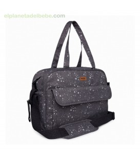 BOLSA MATERNIDAD + CAMBIADOR WEEKEND CONSTELLATION GRIS TUC TUC
