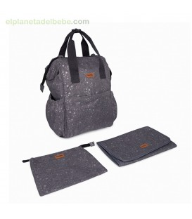MOCHILA MATERNAL + CAMB WEEKEND CONSTELLATION GRIS TUC TUC