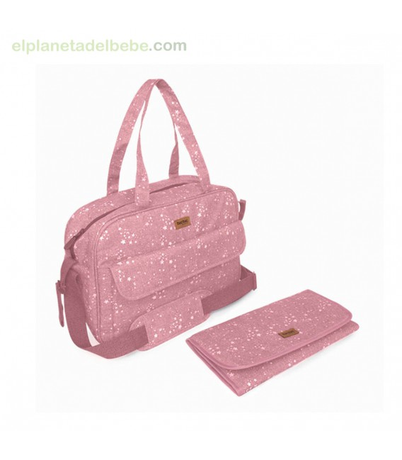 BOLSA MATERNIDAD + CAMBIADOR WEEKEND CONSTELLATION ROSA TUC TUC