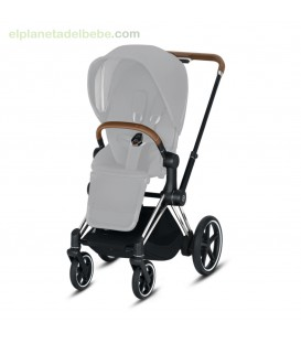 E-PRIAM CHASIS CROMADO / BROWN CYBEX