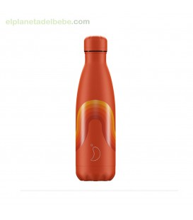BOTELLA INOX RETRO NARANJA 500ML CHILLY