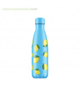 BOTELLA INOX FRUTAL LIMONES 500ML CHILLY