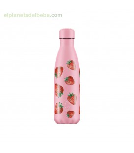 BOTELLA INOX FRUTAL FRESAS 500ML CHILLY