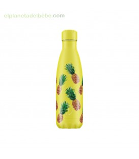 BOTELLA INOX FRUTAL PIÑAS 500ML CHILLY