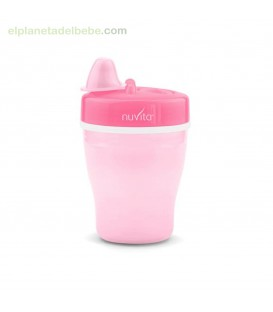 VASO DOBLE PARED CON BOQUILLA RIGIDA 200ML NUVITA