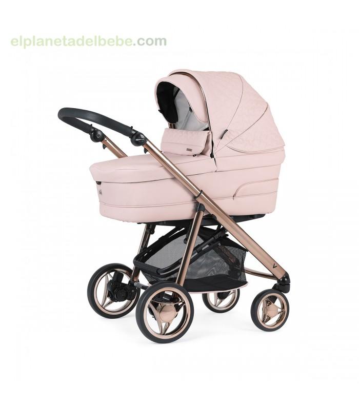 Cochecito Bebecar Pack V 2020 KP057 Chasis Fumé Rosa Negro