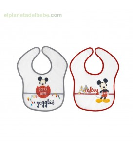 PACK 2 BABEROS MICKEY 1-20 INTERBABY