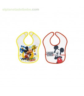 PACK 2 BABEROS MICKEY 2-20 INTERBABY