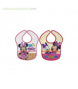 PACK 2 BABEROS MINNIE 1-20 INTERBABY