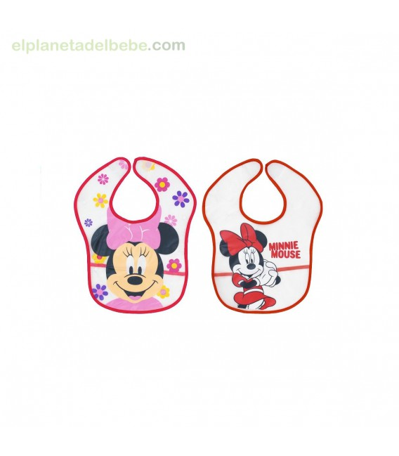PACK 2 BABEROS MINNIE 2-20 INTERBABY