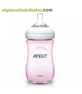 BIBERON NATURAL ROSA 260ML. AVENT
