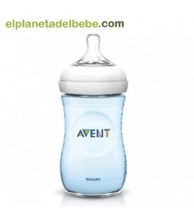 BIBERON NATURAL AZUL 260ML. AVENT