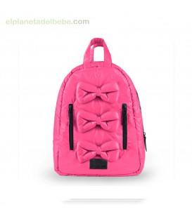MOCHILA MINI BOWS HOT PINK 7AM