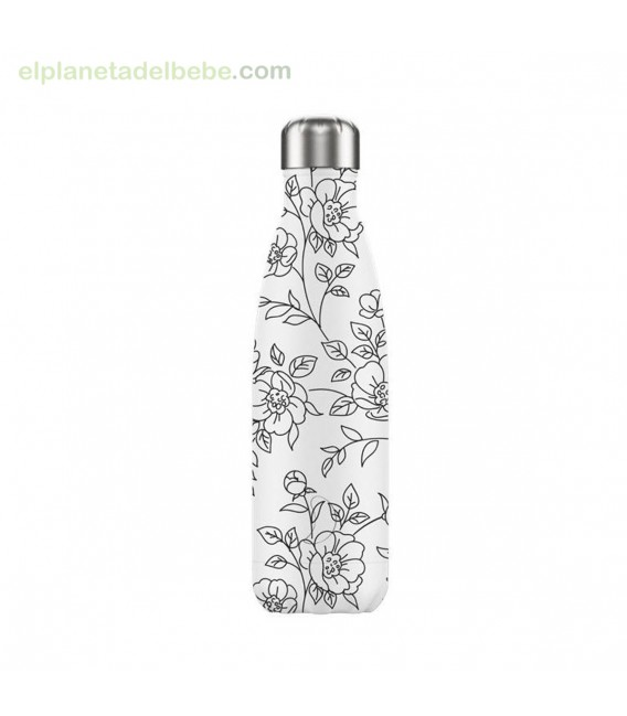 BOTELLA INOX DRAWING FLORES 500ML CHILLY