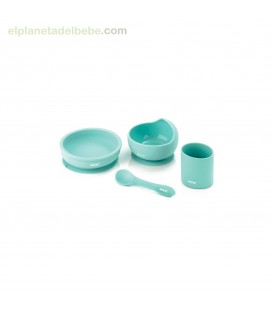 VAJILLA SILICONA DINNER SET U13 MINT JANE