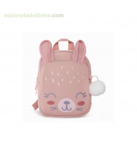 MOCHILA GUARDERIA NEOPRENO LITTLE FOREST ROSA TUC TUC