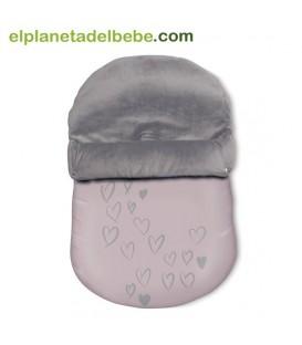 Mini Saco de Invierno Baby Clic Cuore Rosa
