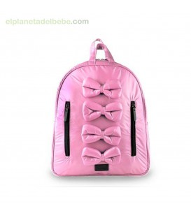 MOCHILA MIDI BOWS BLUSH 7AM