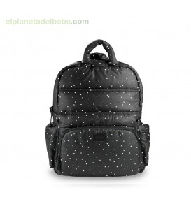 MOCHILA BK718 PRINT BLACK PETIT POISE 7AM