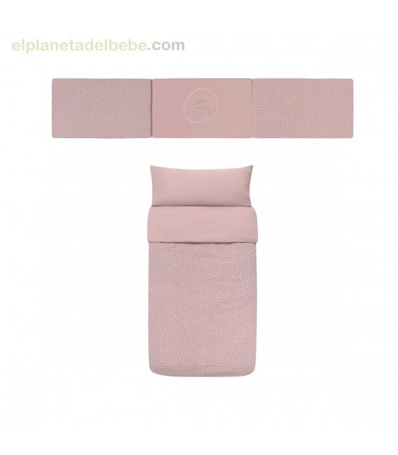 PACK NORDICO CUNA 60X120 NIGHT STORIES ROSA BABY CLIC