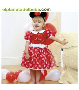Disfraz Bebe Minnie Rojo