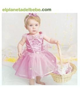 Disfraz Bebé Bella Durmiente 6-12 Meses.