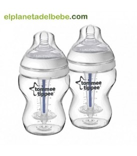 PACK 2 BIBERONES 260ML. ANTICOLICOS TOMMEE TIPPEE