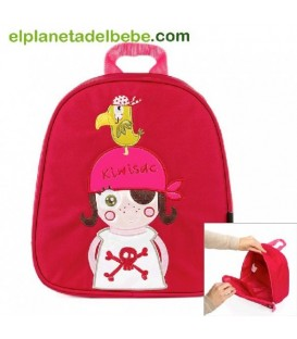 MOCHILA THE PIRATES GIRL BABY KIWISAC