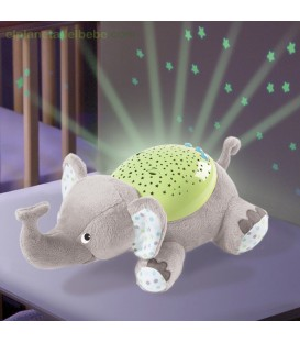 luz nocturna slumberbuddies grey elephant