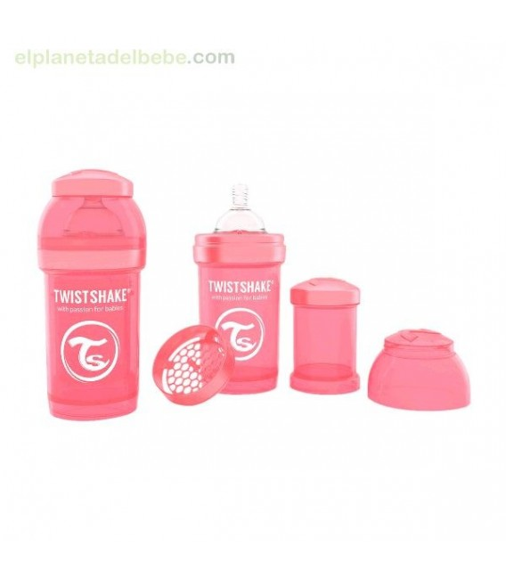 Biberon Anticolico Twistshake 180ml Coral