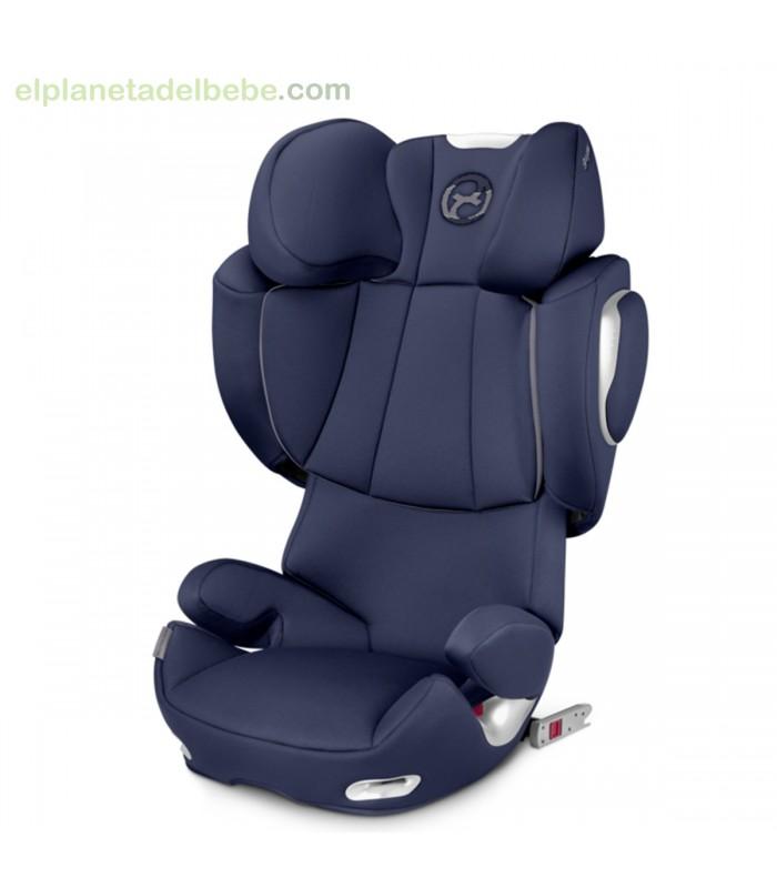 silla de auto cybex solution q3 fix midnight blue. Black Bedroom Furniture Sets. Home Design Ideas