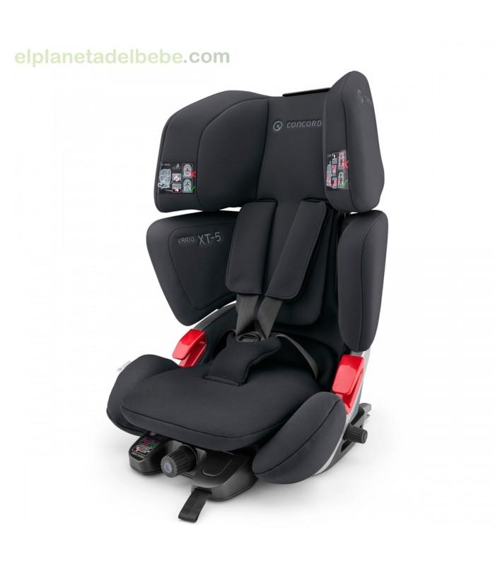 silla de auto vario xt 5 black de concord el planeta del bebe. Black Bedroom Furniture Sets. Home Design Ideas