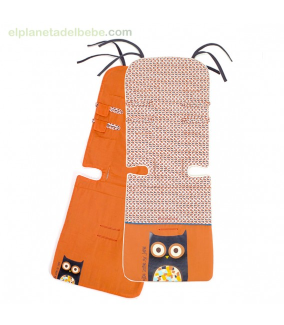 colchoneta para silla de paseo reversible s27 owl jane. Black Bedroom Furniture Sets. Home Design Ideas