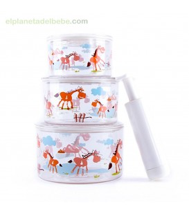 TUP-AIR (ENVASE AL VACIO) NARANJA BABY MONSTERS