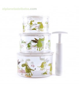 TUP-AIR (ENVASE AL VACIO) VERDE BABY MONSTERS