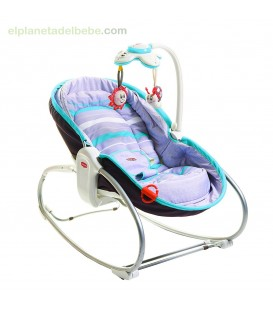 ROCKER NAPPER GREY -TURQUESA TINY LOVE