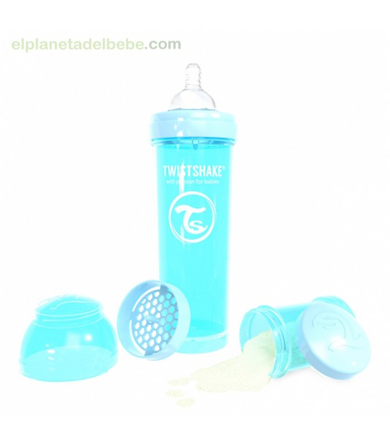 BIBERON ANTICOLICO PASTEL AZUL 3300ml TWISTSHAKE