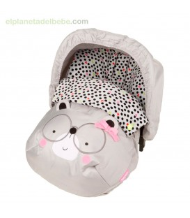 MINI SACO INVIERNO NIÑA BLACK AND WHITE TUC TUC