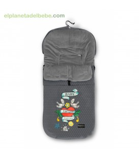 SACO CARRO VELOUR TATOO GRIS COIMASA