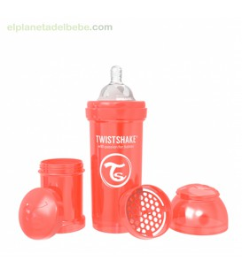 BIBERON ANTICOLICO 260ML PERLA ROJO TWISTSHAKE