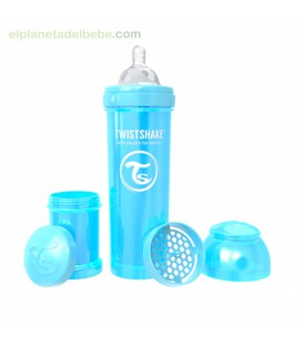 BIBERON ANTICOLICO 330ML PERLA AZUL TWISTSHAKE