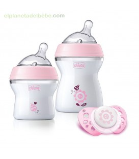 SET REGALO NATURAL FEELING ROSA 0M+ CHICCO