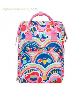 MOCHILA MATERNIDAD ALL IN + CAMBIADOR ENJOY & DREAM ROSA TUC TUC