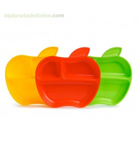 PACK PLATOS CON COMPARTIMENTOS APPLE MUNCHKIN